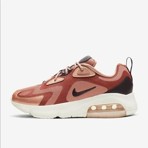 Nike Air Max 200 Bronze Glitter Sneakers Shoes